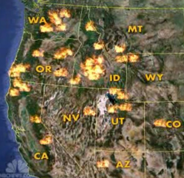 Nw Wildfire Map Shows How Bad It Really Is Natural Resource Report